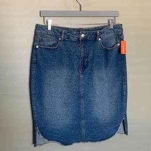 Joe Fresh blue jean skirt mid length size 8
